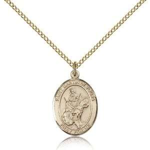 IceCarats Designer Jewelry Gift Gold Filled St. Martin Of Tours
