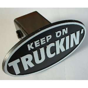 On Truckin Trailer Hitch Cover Receiver Plug for Cars, Trucks, SUVs