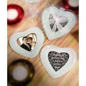 Bridal Shower / Wedding Favors  Heart Shaped Photo Coaster Favors