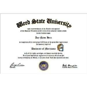 Marijuana Diploma   Weed Lover Diploma