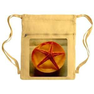 Messenger Bag Sack Pack Yellow Sea Shell and a Starfish