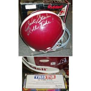 Bart Starr Signed Alabama Pro Helmet w/Roll Tide