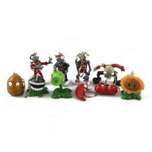 Plants vs. Zombies(PVZ) Key Chain Toys Bundle ( 10pcs