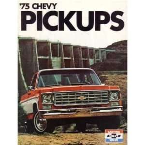 1975 CHEVROLET PICKUP TRUCK Sales Brochure Book