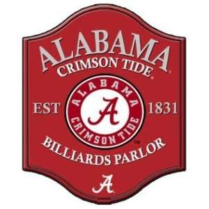 Alabama Crimson Tide Pub Style Billiard Parlor Sign