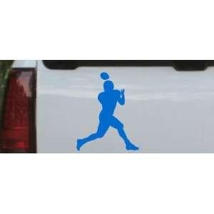 Football Player Sports Car Window Wall Laptop Decal Sticker    Blue