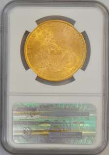 1896 Liberty Head $20 Gold Double Eagle NGC MS61 Rare Old Gold Coin