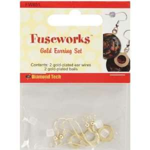 Fuseworks Jewelry Findings gold Earrings 2 Pair/pkg Arts