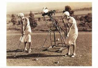 1920s Women Golf Lesson from Machine Modern Postcard