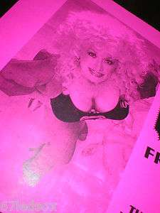 DOLLY PARTON   W0W BUSTY TiCKET CONTEST POSTER