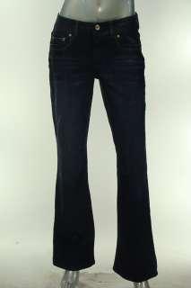 INC Misses 6 Pants Jeans Boot Cut Regular Fit Dark Blue Denim