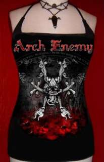 ARCH ENEMY diy x strap tank top Death Metal Rise Of The Tyrant shirt