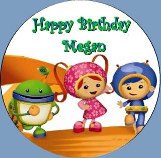 Team Umizoomi Frosting ROUND Edible Cake Topper Image