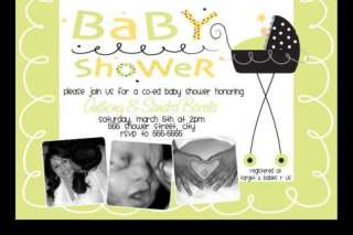 Stroller Fun Baby Shower Invitations Unisex Boy Girl