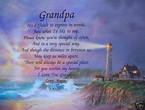 GRANDPA PERSONALIZED POEM FATHERS DAY GIFT