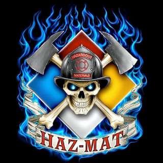 HAZ MAT FIRE DEPARTMENT FIREFIGHTER FD T SHIRT NEW