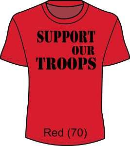 Support our Troops T Shirt Red Friday Mens Ladies xs 4x