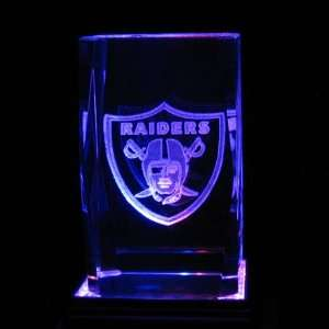 Laser 3D Etched Crystal Cube NFL Oakland Raiders Fan Gear