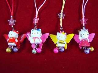 12 Angel Hello Kitty cell phone strap AHK0109 wholesale