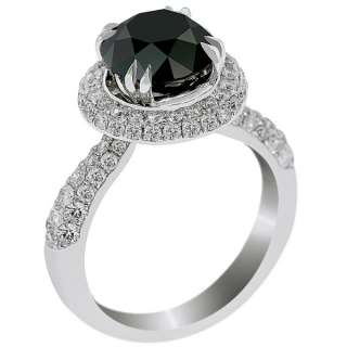Diamond Engagement Ring Vintage Style 14K White Gold DD BDR 051