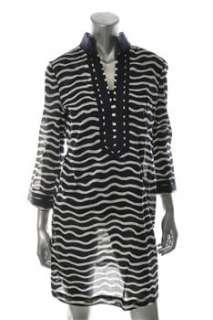 Tory Burch NEW Blue Versatile Dress Striped Daytime 2