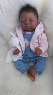 New AA Reborn Baby Girl Ethnic Biracial Doll Sculpt Alina Adrie Stoete