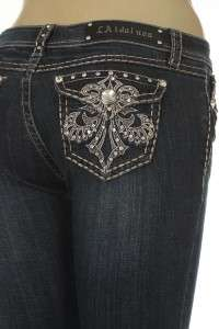 LA IDOL SUPER SEXY FLEUR DE LIS JEANS sizes 1,3,5,7,9,11,13
