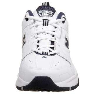 New Balance Mens 608 Training Shoe/Sneaker White/Navy