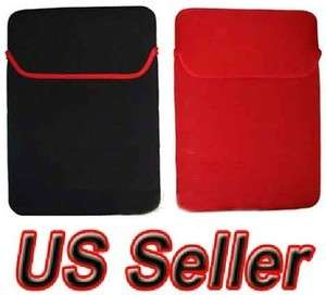 15 15.4 inch Neoprene Laptop Sleeve Red Black Reversible Soft Case
