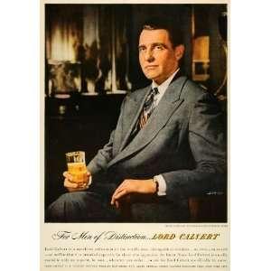 1947 Ad Lord Calvert Alcohol Drink Beverage Distillery