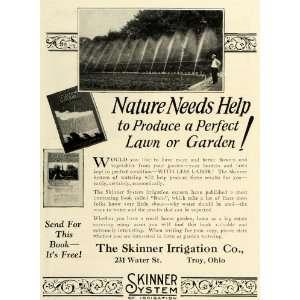 1925 Ad Skinner Irrigation Sprinkler Watering Systems Lawn