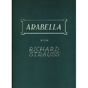 Arabella Richard Strauss, Hugo von Hofmannsthal  Books