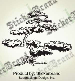 Vinyl Wall Decal Sticker Japanese Bonsai Tree Large 6ft