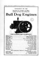 Fairbanks Morse Bull Dog Hit Miss Engine Manual 1081