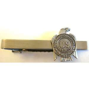 US Department of Corrections Prison Guard Mini Badge Tie