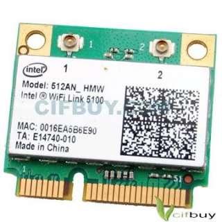 Intel Wifi 5100 Half Hight Mini PCI e 512AN N G card