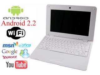 Netbook Laptop Notebook Android 2.2 OS HD Wifi MSN Skype You tube