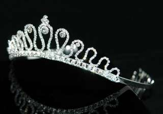Bridal Wedding Princess Rhinestone Crystal Tiara T1252