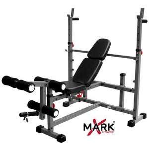 XMark Olympic Weight Bench with Leg Curl (XM 4421): Sports