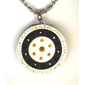 Amber Crystal Six Pointed Star Zero Point Energy and Scalar Pendant