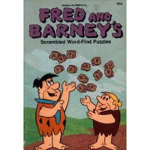 Barneys Scrambled Word find Puzzles Hanna Barbera  Books