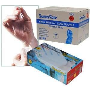 Sunnycare #7601 Vinyl Medical Exam Gloves Powder Free Size