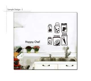 HAPPY CHEF Restaurant & Kitchen DIY Decor Sticker Decal