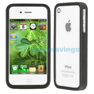 BLACK CASE+CAR+HOME CHARGER+PRIVACY FILM for iPhone 4 4S 4G 4GS G