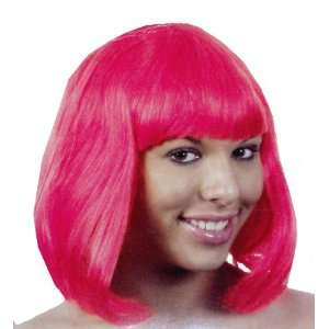 Fancy Dress Costume   Supermodel Wig   Hot Pink [Kitchen