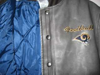 St Louis Rams NFL Youth Small Pleather Varsity Jacket @
