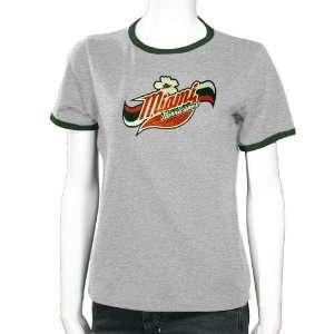 Miami Hurricanes Ash Youth Girls Roxy T shirt  Sports