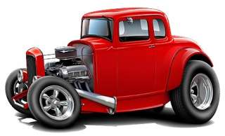 1930s Hot Rod Cool Car Art Cartoon Tshirt NEW