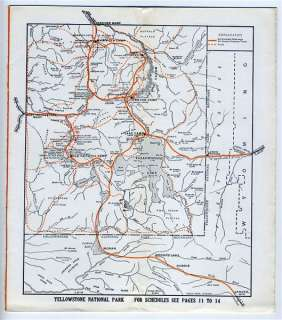 Yellowstone Park Camps Company 1923 Brochure Map Photos