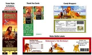 The Lion King Simba Movie ~ Birthday Party Ticket Invitations